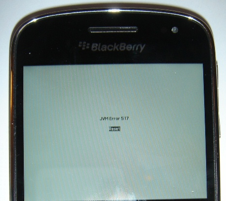 Death Screen Blackberry The Blue Screen of Death