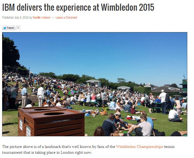 What happens when you invite influential bloggers to @Wimbledon?
