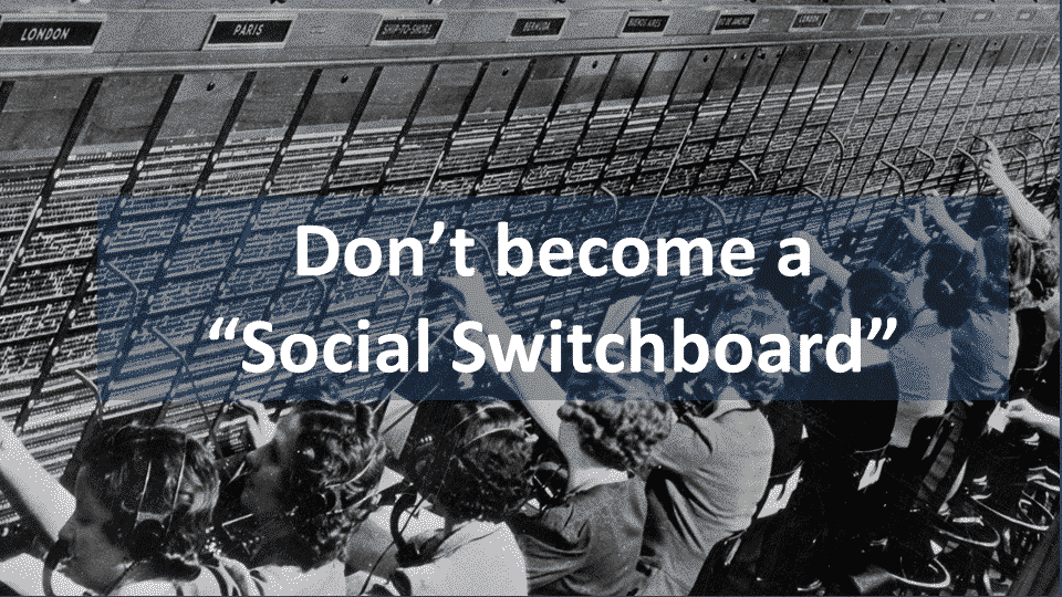 "How to avoid having your social media team become a ""social switchboard"""