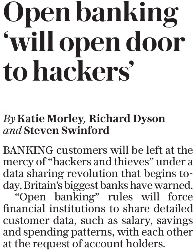 A small revolution happened on 13 January 2018 in the UK retail banking market